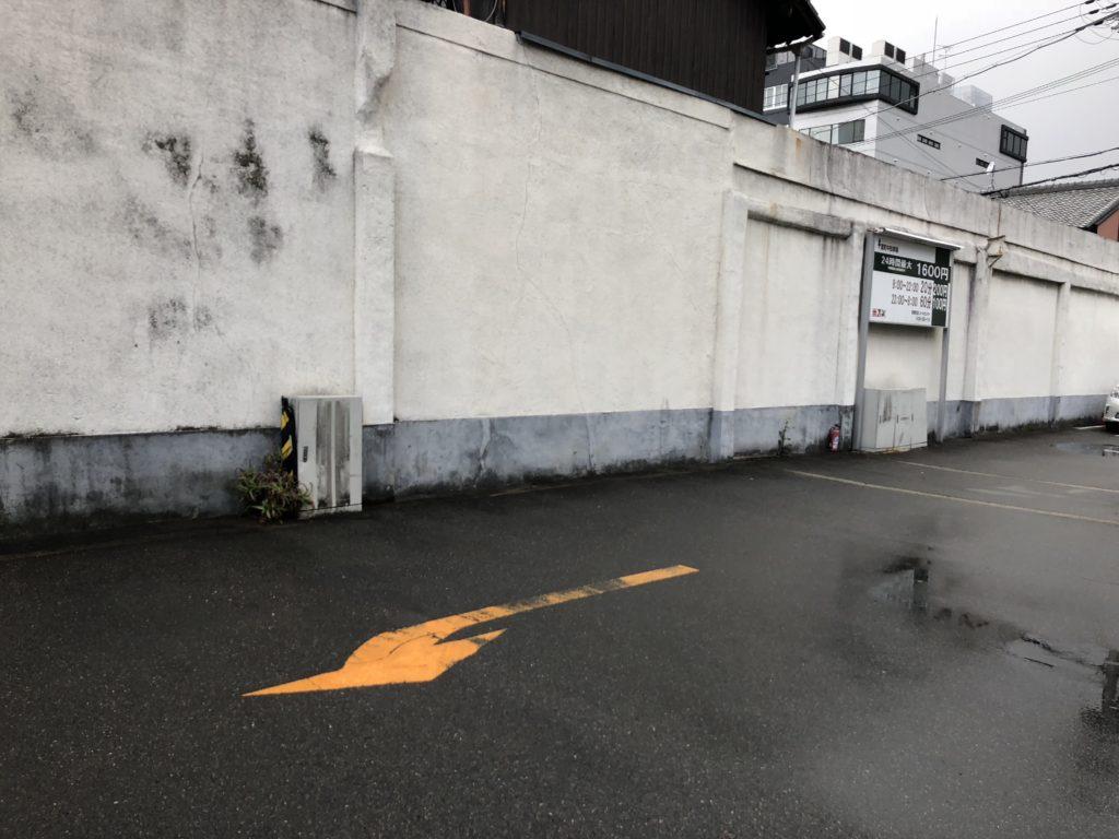 グラフィティアートに向いてそうな壁(ダメです)
