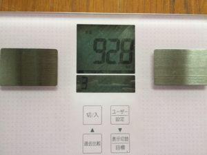 旅後の体重