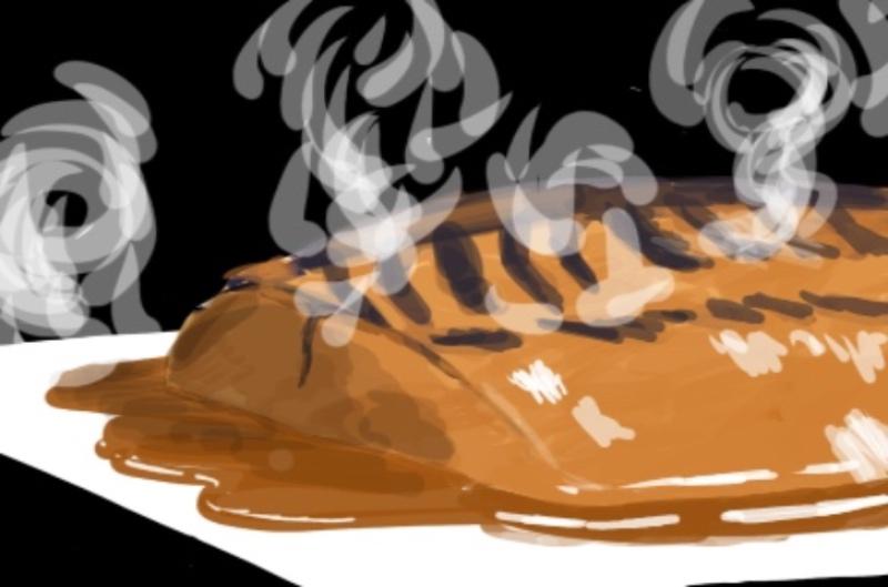 サバ味噌絵