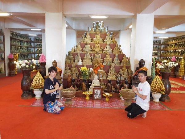 ウドンの仏教遺跡の中