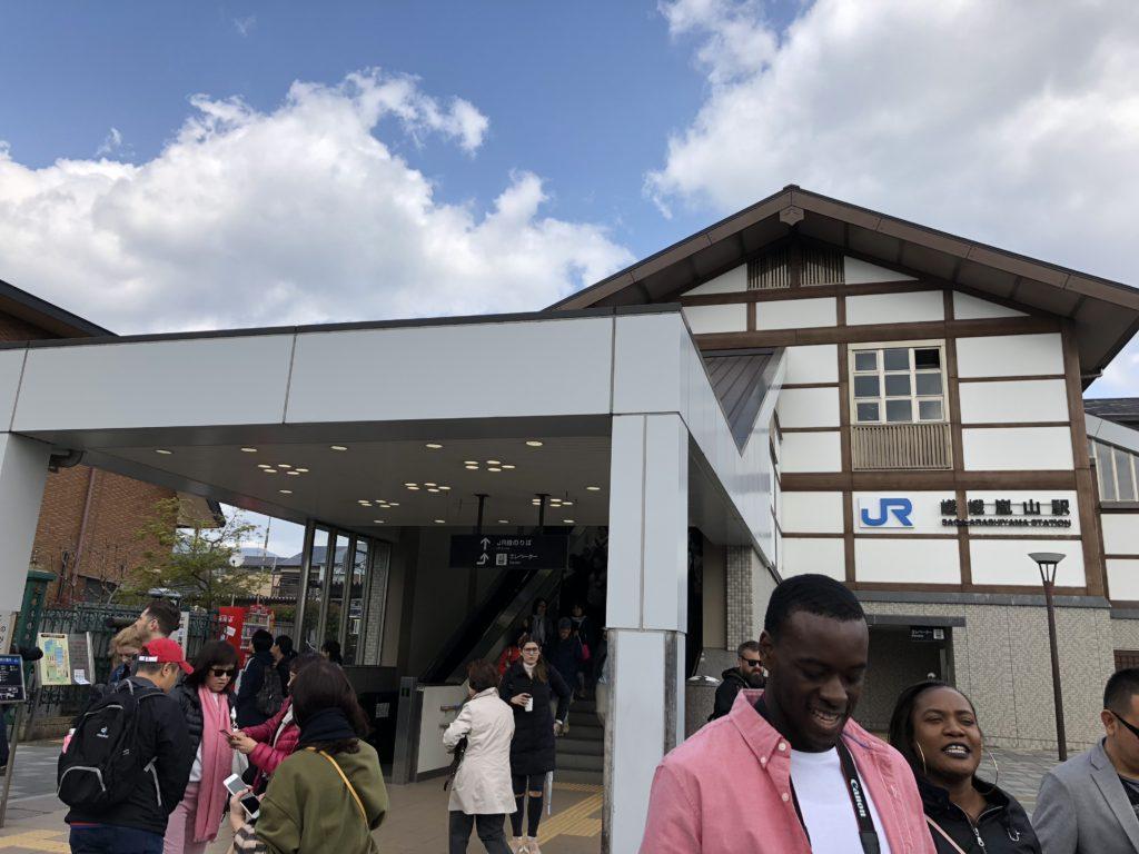 ▲嵯峨嵐山駅(JR嵯峨野線)