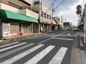 ▲武蔵嵐山駅前のメインストリート