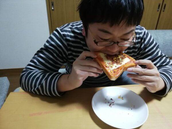 すきやきふりかけのトースト試食