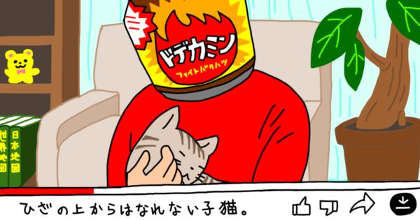 猫をかわいがるドデカミン