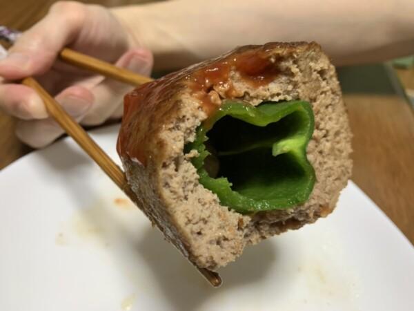 肉詰めピーマン焼き2