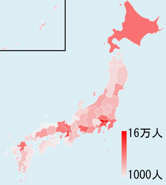 都道府県の分布(全体)