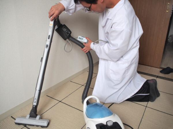 掃除機の血圧を測る